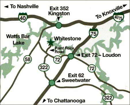 Whitestone Country Inn map