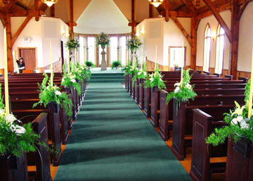 Inside of The Wedding Chapel