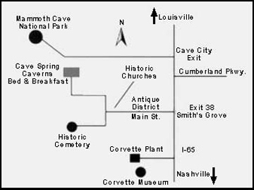 Oak Hill Farm and Cabins Map
