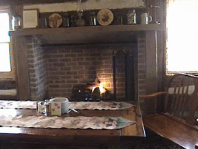 Oak Hill Farm and Cabins Kitchen Fireplace