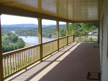 Calico Rock Cabin, balcony view