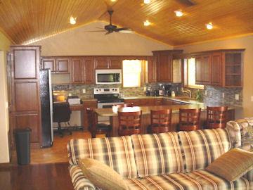 Calico Rock Cabin, kitchen area
