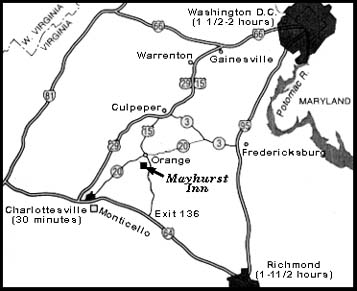 Mayhurst Inn Map
