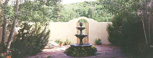 View of the Courtyard at the Hacienda