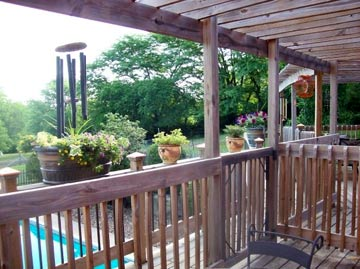 Deck Overlooking the Pool