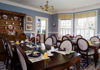 Carolina Bed & Breakfast Dining Room