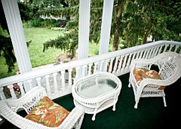 Sunrise Suite's Enclosed Porch