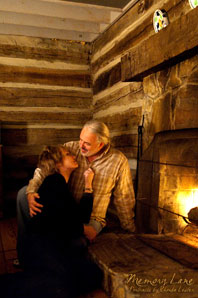 Randy &amp; Rhonda in the Tobacco Barn Cabin