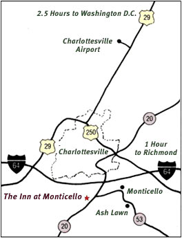 The Inn at Monticello map