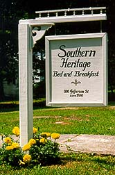 Southern Heritage Bed & Breakfast Sign