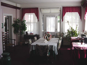 Your Hosts and View of Dining Area