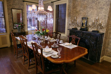 201 Bed and Breakfast, The Dining Room