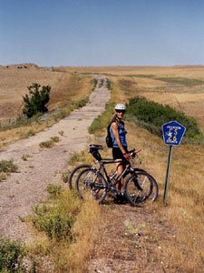 Triangle Ranch Bed & Breakfast near Badlands National Park, South Dakota, Bicycler