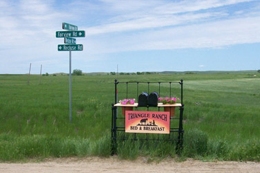 Triangle Ranch Bed & Breakfast near Badlands National Park, South Dakota, Marquee