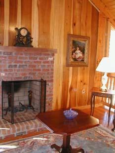 Hunter's Run Lodge Bed & Breakfast West Room Fireplace