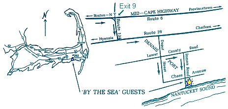 'By The Sea' Guests Bed & Breakfast & Suites, map