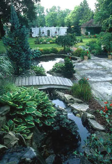Pond and Pergola