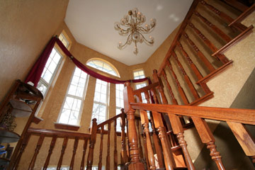 Whispering Pines Bed and Breakfast Grand Staircase