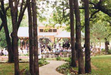 Whispering Pines Bed and Breakfast Outdoor Wedding