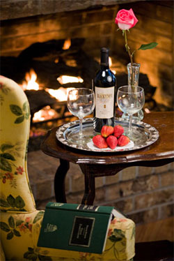 The Lamb's Rest Inn, fireplace