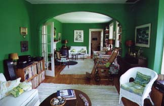 Penury Hall Bed & Breakfast, Green Living Room