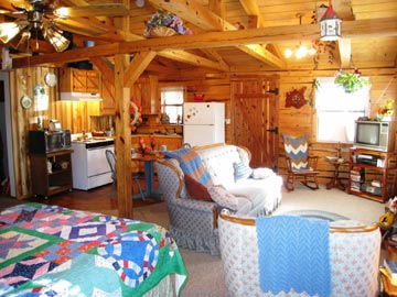 Aunt Jan's Cozy Cabin Bed & Breakfast living room