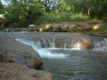 Sulphur Springs Inn waterfall