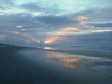 The Sunset Inn, Sunset Beach, North Carolina - Sunrise in September