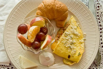Potato Onion Herb Omelet