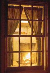 The Cabin at Sassafras Knoll Bed & Breakfast Window