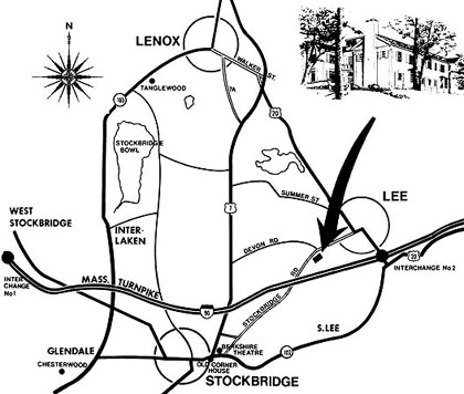 1800 Devonfield Inn, an English Country Estate, Map