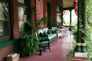 Gables Bed and Breakfast Porch