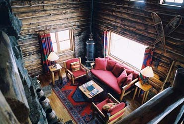 The Cabin on the Lake living room