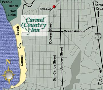 Carmel Country Inn, map