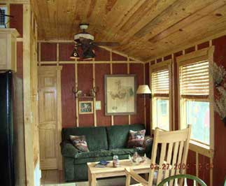The Houston Cabin-living area