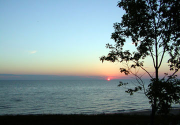 sunset on Lake Michigan
