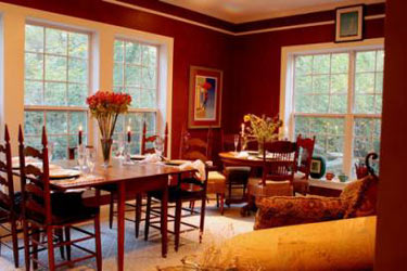Red Lace Wing Dining Room
