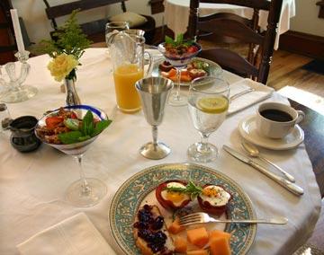 Tryon Farm Guest House breakfast