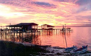 A beautiful Mobile Bay sunset.