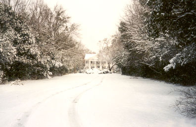 exterior with snow
