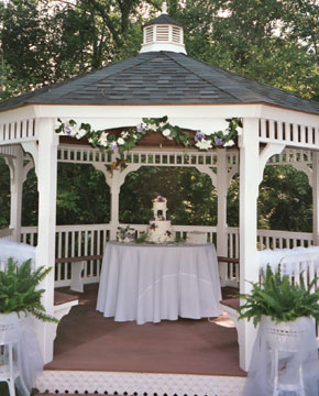 Gazebo with Wedding Cake