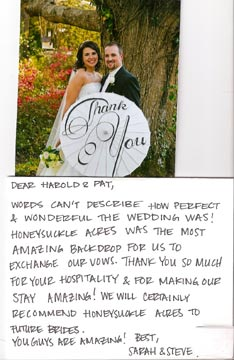 Bride/Groom and Thank you card