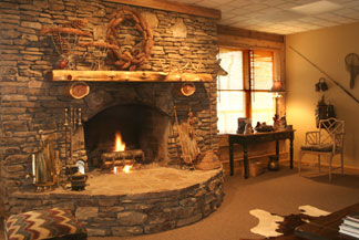 The Recreation Room hearth