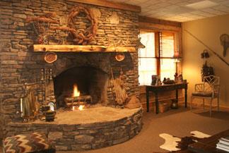 The Recreation Room hearth