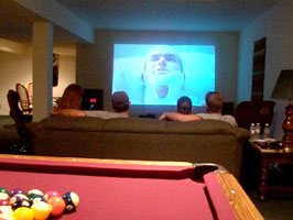 10 Foot Wide Theatre in Billiard/Game Room