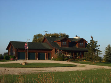 Quigley's Log Home B&B Front View