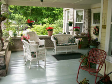 Spacious Front Porch