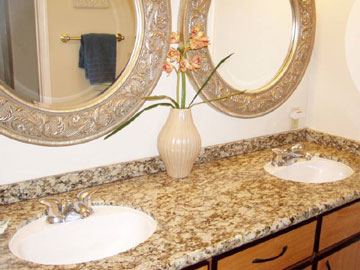 Double Sinks with Granite Counter Tops