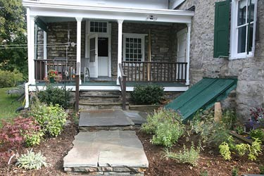 Covered Porch &amp; Bluestone Patio