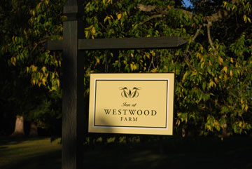 Inn at Westwood Farm, Sign